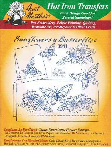(Aunt Martha's Hot Iron Transfers 3941 Sunflowers and Butterflies)