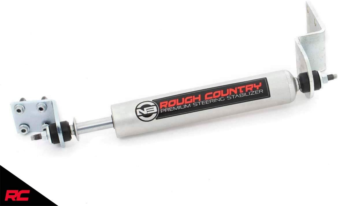 Rough Country N3 Steering Stabilizer compatible w// 1988-1998 Chevy GMC Trucks 2WD 8738630