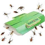 Klhamky 12 Trampas Trampas contra Escarabajos y Cucarachas, Trampa Adhesiva Cucarachas Bolsa, con atrayente Natural de…
