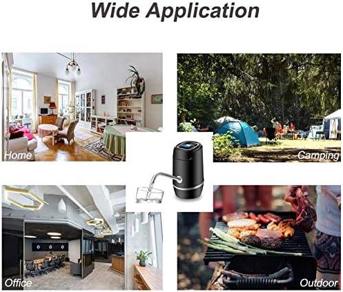自動水ディスペンサー、水ディスペンサー5ガロン電気水ボトルポンプポータブルUSB充電自動ボトル水差しディスペンサーポンプの家、オフィス、屋外、キャンプ,グレー