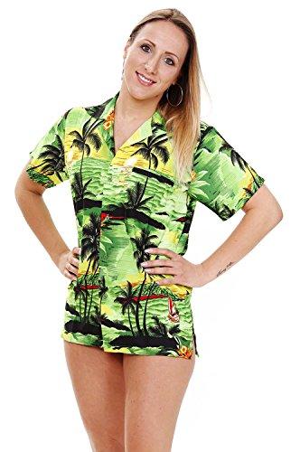 V.H.O. Funky Hawaiian Blouse, Surf, Green, S