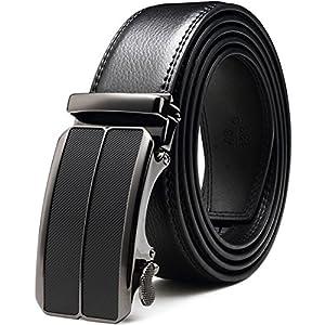 Bulliant Men Belt-Leather Ratchet Belt for Men Dress 1 3/8″ In Gift Box, Size Adjustable byTrim to Fit