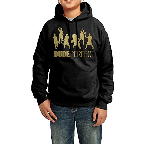 Golf Vintage Sweatshirt (YHTY Youth Boys/Girls Hoodies Dude Action Figure Perfect Black Size L)