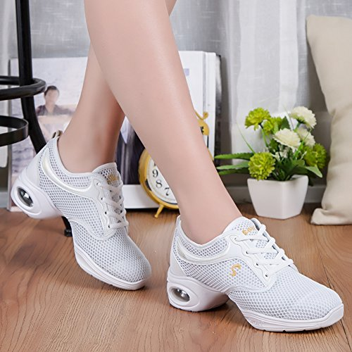 Split Women'S VILOCY Dance Dance Shoes Sneakers Sole Trainer White fgwPpq