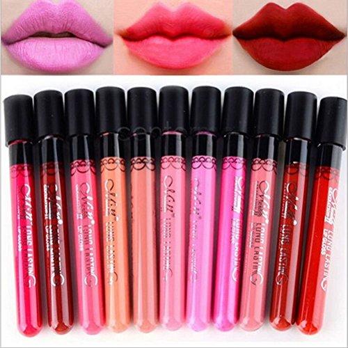 Buytra 10 pièces beauté maquillage lèvres Gloss velours mat étanche cosmétiques Lipstick