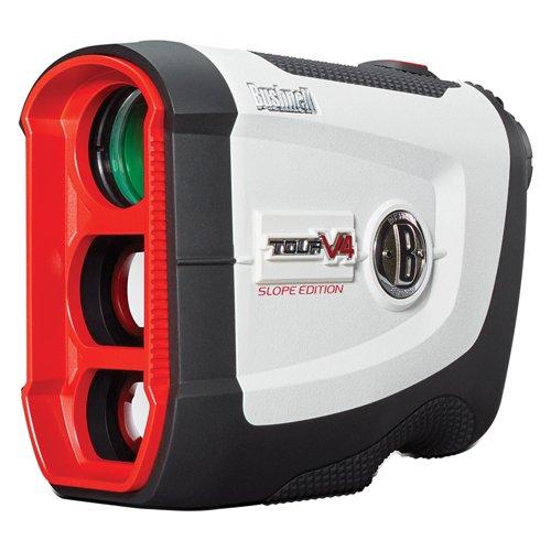 Bushnell Tour V4 Shift Patriot Pack Laser Golf Rangefinder with Slope-Switch Technology (White/Grey)