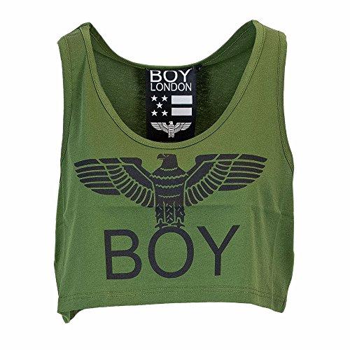 Verde TOP London Oliva Boy DONNA STAMPA BL1022 JERSEY YTqWwZg