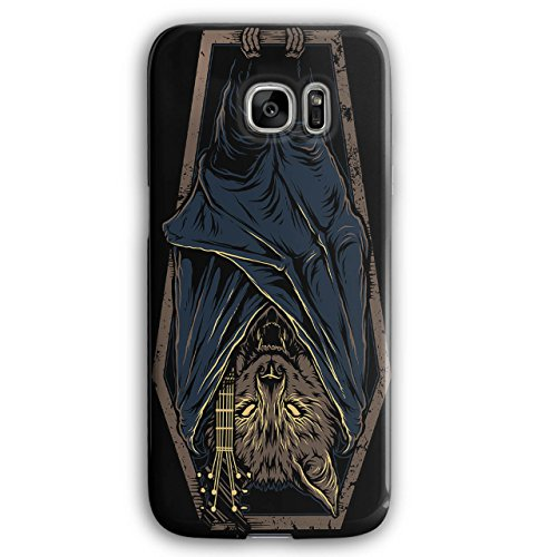 Bat Rock Coffin Horror Bat Rock Coffin Horror Case for Samsung Galaxy, Death Non-Slip Cover - Slim Fit, Comfortable Grip, Protective Case by Wellcoda