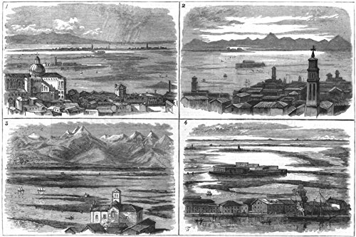 VENICE. Lagoons; Torcello, Burano, Murano, S Giovanni S Paolo; S Salvatore Isolo - 1883 - old antique vintage print - engraving art picture prints of Venice Landscapes - The Graphic - Venice Engraving