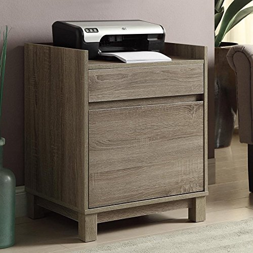 Cabinet with 2 Drawers - Gray (2 Drawer Mdf File Cabinet)
