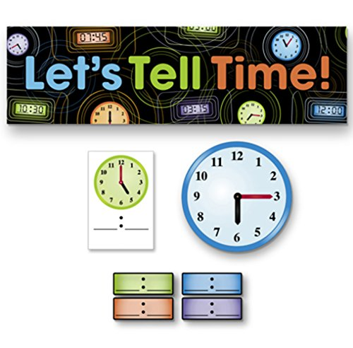 (RetailSource DAR003ED1 Mini Bulletin Board Set, Clocks and Time (Pack of 74))