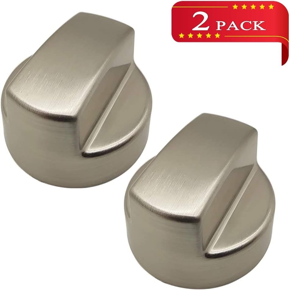 Wolf Hood Knob Replacement 811195 805328 KIP5D44 5D44 B002MFNQ34 Ventilation Hood Knob for Sub-Zero Wolf in Silver Color(2 Pack)