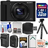Sony Cyber-Shot DSC-HX80 Wi-Fi Digital Camera 32GB Card + Case + Battery & Charger + Flex Tripod + Kit