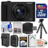 Sony Cyber-Shot DSC-HX80 Wi-Fi Digital Camera with 32GB Card + Case + Battery & Charger + Flex Tripod + Kit
