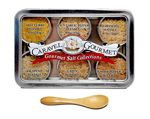 Caravel Gourmet Spicy Sea Salt Sampler, 8.5 Ounce