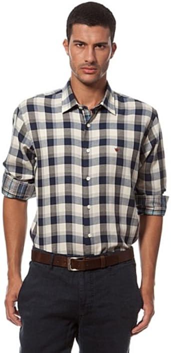 Caramelo Camisa Sport Azul L: Amazon.es: Ropa y accesorios