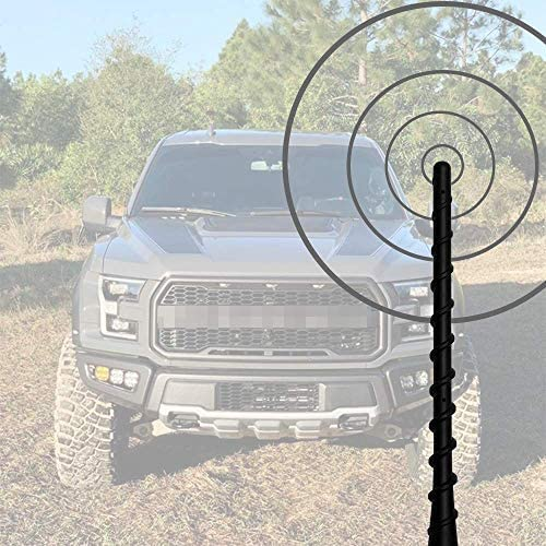 Designed for Optimized FM//AM Reception Compatible with F150 2009 10 11 12 13 14 15 16 17 19 2020 KSaAuto Antenna for Ford F150 2009-2020 8 Inches Spiral Flexible Rubber Antenna Mast Replacement