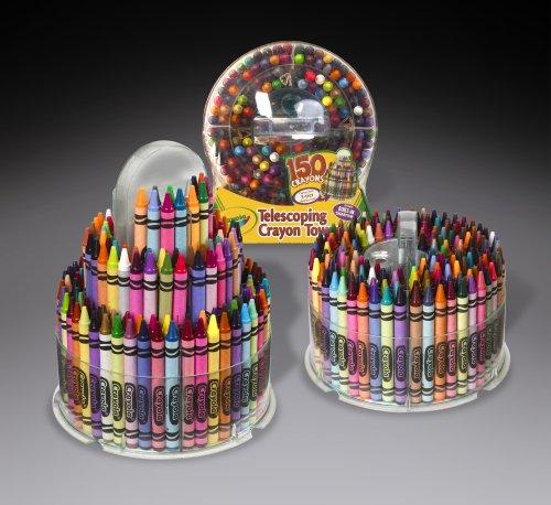 amazon com crayola 150 count telescoping crayon tower storage case