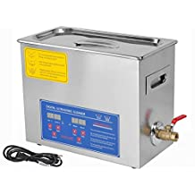 New Professional Industry Heated Ultrasonic Cleaner Stainless Steel 6 Liter Heater W/timer, High Efficiency Cleaning for Professional and Personal or Home Use,jewelry Earrings, Necklace, Rings, Bracelets and Diamonds,metal Articles Ancient Coins