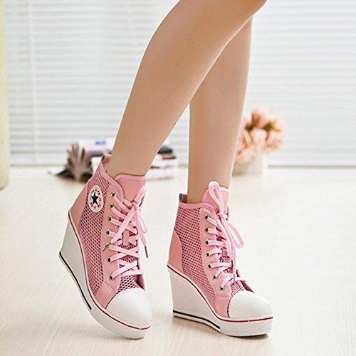2 36 Pink Kivors Collo Donna Alto 5 Rosa X7qSZHn