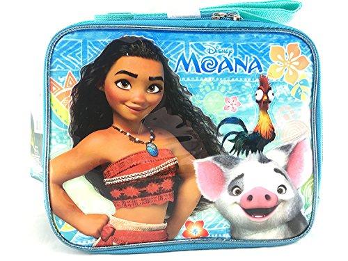 Moana Adventurous Teenager Girls Canvas Blue Insulated Lunch Bag