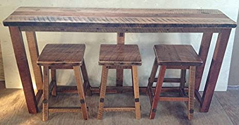 Sensational Amazon Com Rustic Natural Reclaimed Barn Wood Kitchen Bar Caraccident5 Cool Chair Designs And Ideas Caraccident5Info