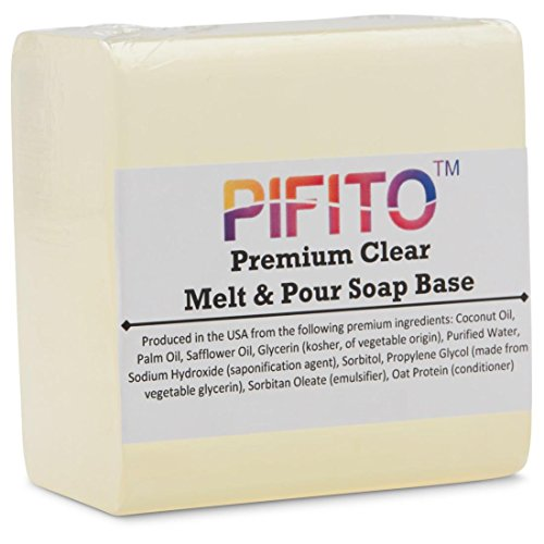 Pifito Castile Melt and Pour Soap Base 2 lb │ Premium 100/% Natural Glycerin Soap Base │ Luxurious Soap Making Supplies
