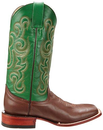 Ferrini Menns Okse Western Boot Brun / Grønn