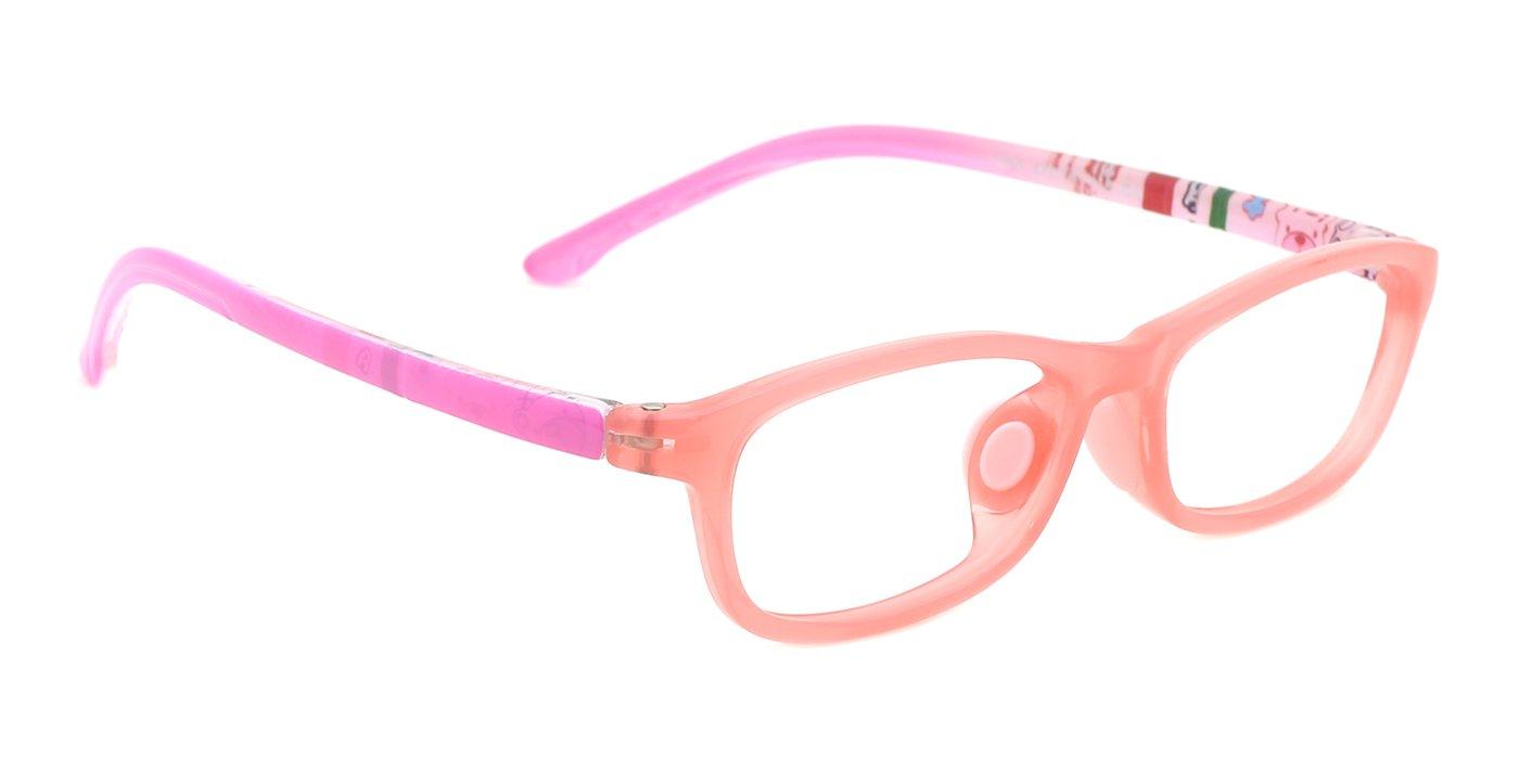 modesoda Classic Kids Non Prescription Glasses Frame,Rectangular Optical Eyeglasses Graffiti Arm for Girls Boys by modesoda