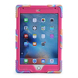 iPad Mini 4 Case, Aceguarder New Design iPad Mini 4 Case Kidsproof Dirtproof Shockproof Cover Case With Stand Super Protection for iPad Mini 4 (Pink Camo-rose)