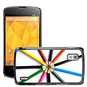 Hot Style Cell Phone PC Hard Case Cover // M00151094 Crayons Crayon Paint Pencils Drawing // LG Nexus 4 E960
