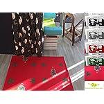 Passatoia eventi per negozi, festività … / Tappeto retro antiscivolo di dimensioni passaggio alla scelta / Tappeto decorativo antifiamma / MadeInNature® (Rosso di Natale, 1x4 m)