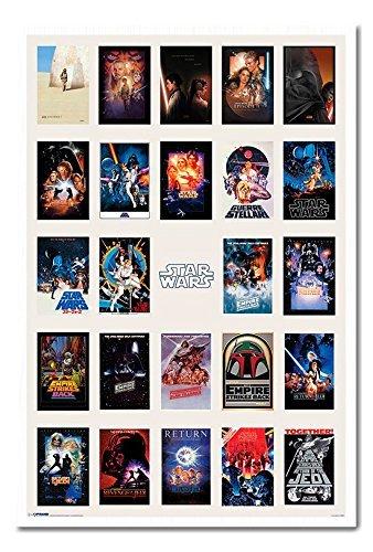 amazon com star wars one sheet collage poster cork pin memo board