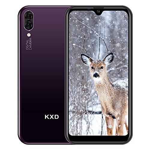 "Teléfono Móvil Libres KXD A1 Android 8.1 Quad Core Smartphone Libre Baratos 3G Dual SIM, Pantalla 5,71"" IPS Water-Drop Screen Movil, Cámara Trasera y Frontal 5MP 16GB ROM (128GB Ampliable SD), Morado a buen precio"