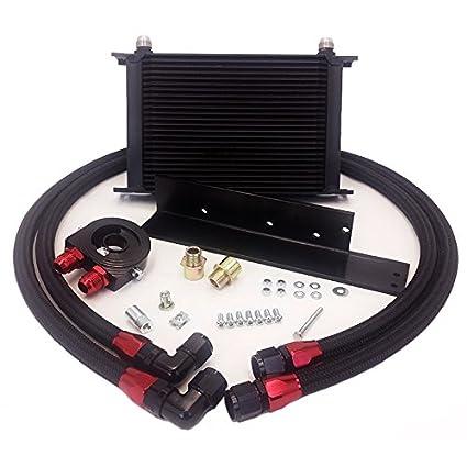 Amazon.com: Nissan 2003 to 2008 350z & 2009 to 2014 370z Nismo 24 Row Bolt on Oil Cooler Kit: Automotive