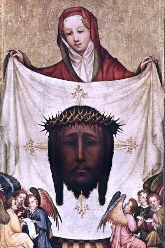 Master saint Veronica St. Veronica with the Holy Kerchief - 24'' x 36'' 100% Hand Painted Oil Painting Reproduction by Art Oyster