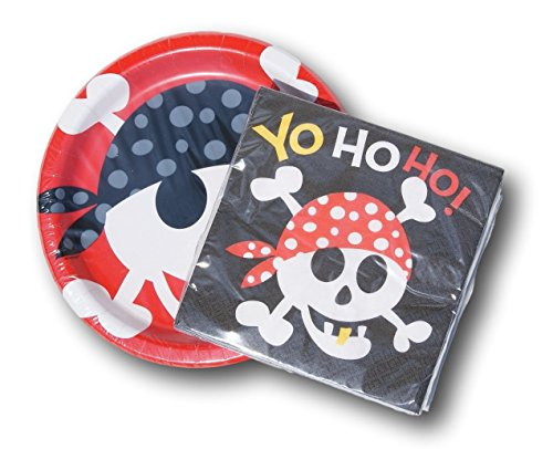 Pirate Themed Party Supply Kit - Napkins and Plates by Designware -