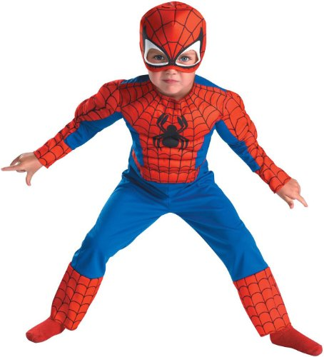 [Spiderman Toddler Size: 3T-4T (Red/Blue)(Discontinued by manufacturer)] (Muscle Chest Spiderman Costumes)