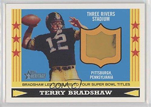 0505a7dbb Terry Bradshaw (Football Card) 2005 Topps Heritage - Flashback Relics  FTBR