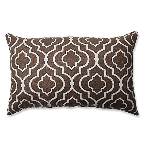 Pillow Perfect Donetta Rectangular Throw Pillow, Chocolate (Chocolate Throw Pillows compare prices)