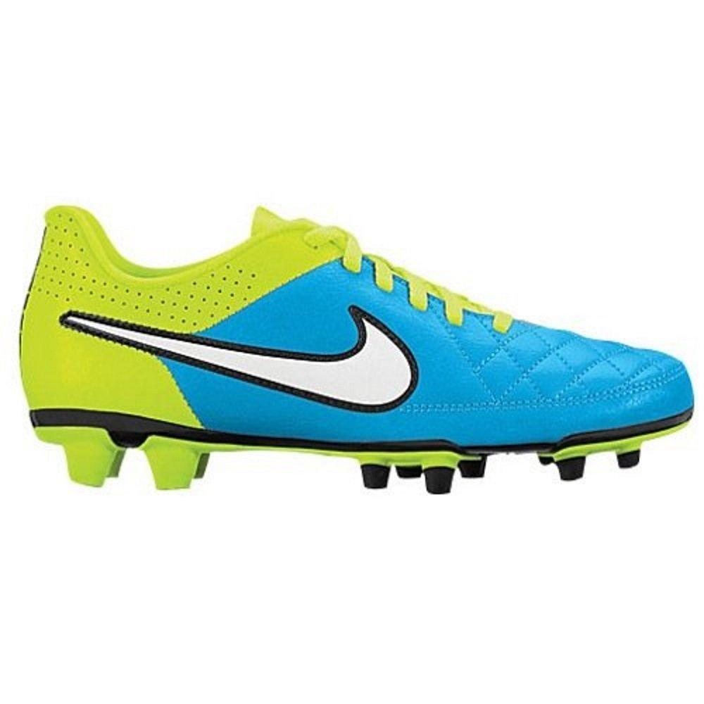 Nike Women's Tiempo Rio ll FG Blue Lagoon/Volt)