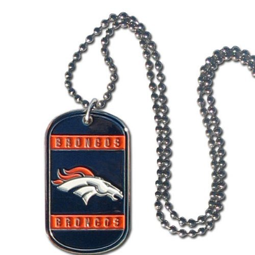 Denver Broncos NFL Stainless Steel Dog Tag Necklace