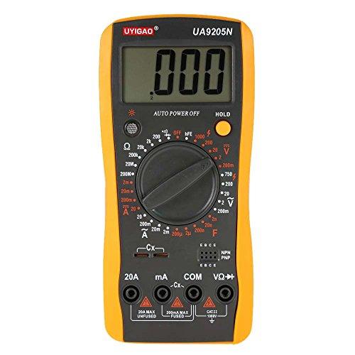 Uyigao Mini LCD Digital Multimeter Tragbar, Tester DC/AC für Spannung Strom Widerstand Kapazität, Widerstandsmessgerät Amperemeter, der Lage Diode und Triode beschaltet