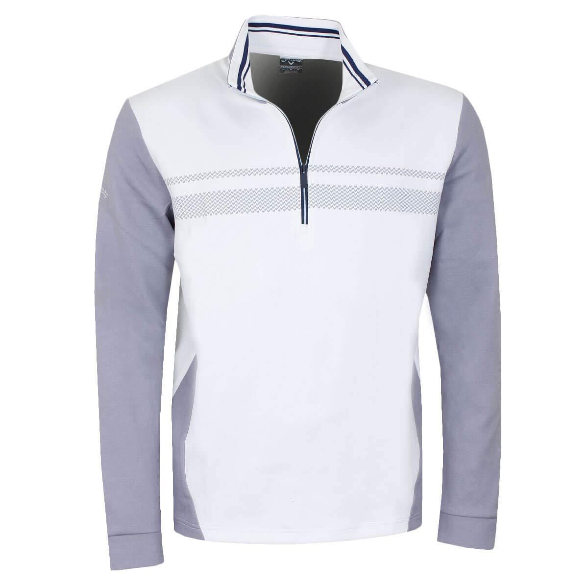 Callaway Golf 2019 Mens 1/4 Zip High Gauge Fleece Thermal Stretch Golf Pullover Bright White XL by Callaway