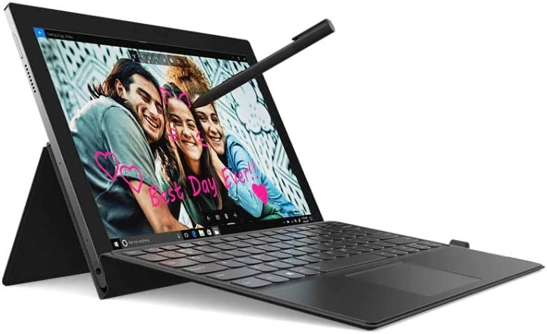 """Lenovo Miix 630 2-in-1 12.3"""" FHD WUXGA Touchscreen Laptop, Qualcomm Snapdragon 835 up to 2.21GHz, 4GB DDR4, 128GB SSD, 802.11ac + LTE, Bluetooth, USB-C, 4-in-1 Card Reader, Webcam, Windows 10 S"""