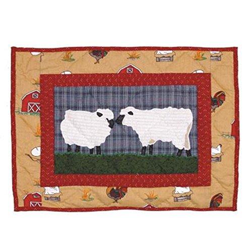 Patch Magic 16-Inch by 12-Inch Barnyard Crib Toss Pillows