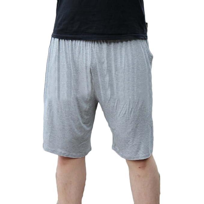 Pantalones Cortos Shorts Elástico Noche De Pijama para Hombre Pantalones De Estar por Casa Talla Grande