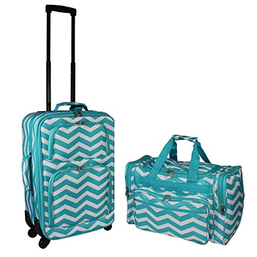 World Traveler 2-Piece Carry-on Expandable Spinner Luggage