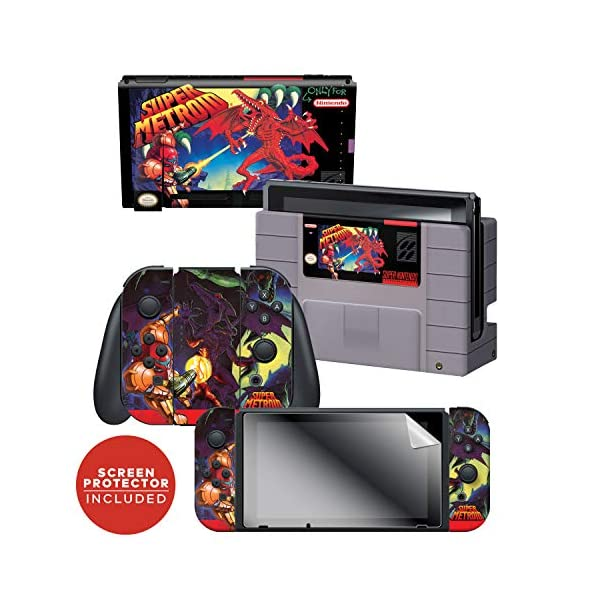 Controller Gear Officially Licensed Nintendo Switch Skin & Screen Protector Set - Super Metroid - Nintendo Switch 1