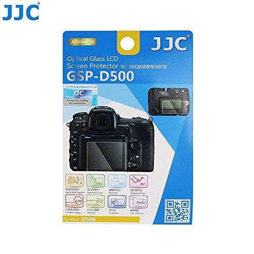 Tempered Optical Glass Camera Screen Protector for Nikon D500 DSLR - JJC GSP-D500